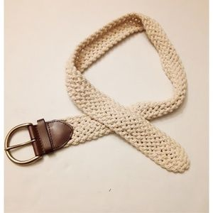 Banana Republic Cream Woven Belt